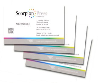 Photo: Sample business cards